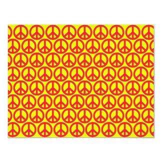 Signos de la paz rojos invitación 10,8 x 13,9 cm