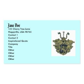 silbernagelcoatofarms, gama de Jane, 123 cereza Tarjetas De Visita
