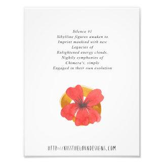 Silencio 1 - poesía 8,5 x 11 imprimible foto