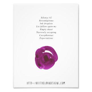 Silencio 2 - poesía 8,5 x 11 imprimible fotos