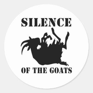 Silencio de las cabras pegatina redonda