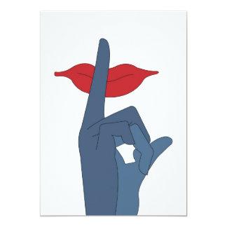 silencio, por favor invitación invitación 12,7 x 17,8 cm