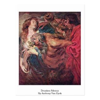 Silenus borracho de Anthony Van Dyck Postal