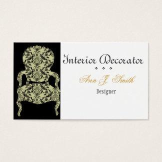 Silla blanco y negro del cordón del vintage tarjeta de negocios