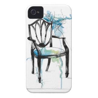 Silla de Hepplewhite - acuarela Carcasa Para iPhone 4