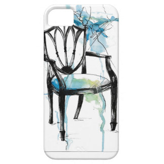 Silla de Hepplewhite - acuarela Funda Para iPhone SE/5/5s