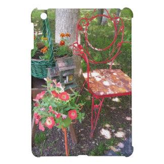Silla de jardín anaranjada brillante