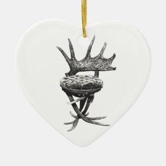 Silla de las astas del macho ornamento para arbol de navidad