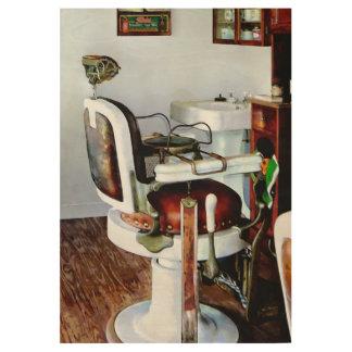 Silla de peluquero póster de madera