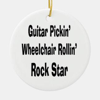 silla de ruedas de la cosecha de la guitarra que r ornamento de reyes magos