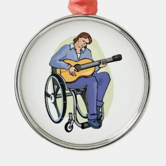 silla de ruedas graphic.png del guitarrista adornos de navidad