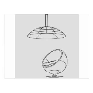 silla del huevo postal