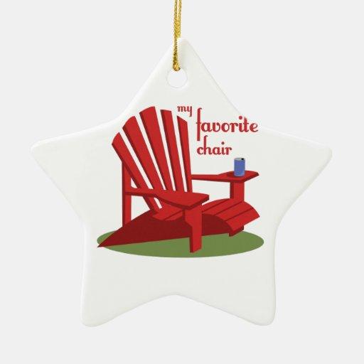 Silla preferida ornamentos de navidad