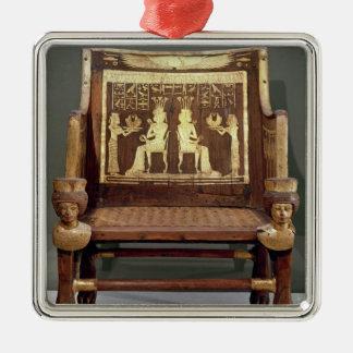 Silla que pertenece a princesa Satamun Ornamentos De Reyes Magos