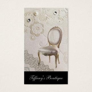 silla rococó París de la lámpara femenina Tarjeta De Visita
