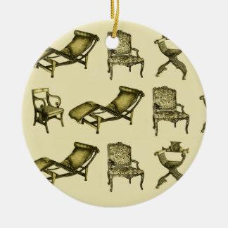 Sillas de la sepia adornos de navidad
