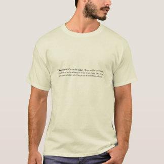 Sillas de montar ardientes número 6 camiseta