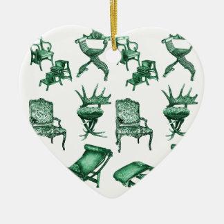 Sillas verdes ornamento de reyes magos