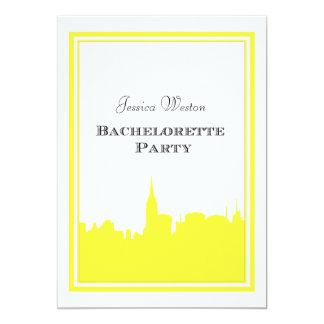 Silueta #2 DIY Bachelorette del amarillo del Invitación 12,7 X 17,8 Cm
