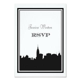 Silueta #2 DIY RSVP del horizonte de NYC Invitación 8,9 X 12,7 Cm