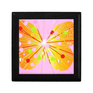 Silueta abstracta de la mariposa caja de regalo
