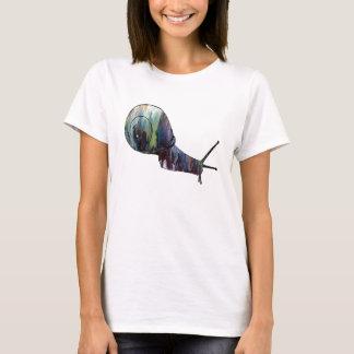Silueta abstracta del caracol camiseta