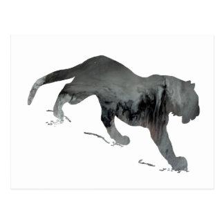 Silueta abstracta del tigre postal