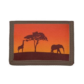 Silueta africana del safari - cartera