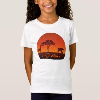 Silueta africana del safari - la camisa del niño