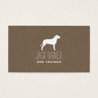 Silueta americana de Terrier de pitbull Tarjeta De Negocios