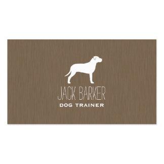 Silueta americana de Terrier de pitbull Tarjetas De Visita