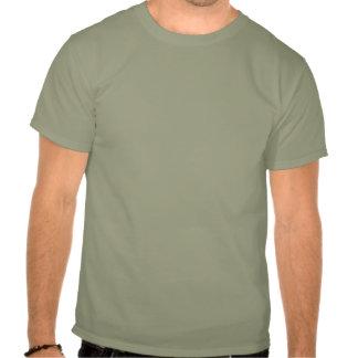 Silueta anaranjada de oro de la jirafa de la camiseta