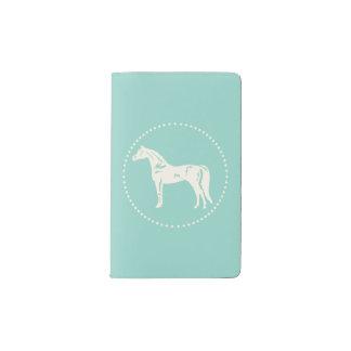 Silueta árabe del caballo cuaderno de bolsillo moleskine