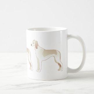 Silueta básica del ejemplo de la raza del perro de taza de café