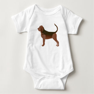 Silueta básica del ejemplo de la raza del sabueso body para bebé