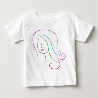 silueta camiseta de bebé
