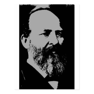 Silueta de James A. Garfield Postal