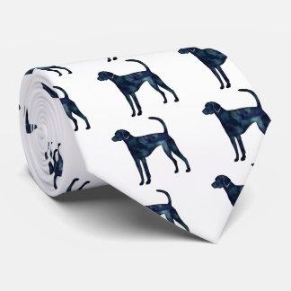 Silueta de la acuarela del negro del perro del corbatas personalizadas