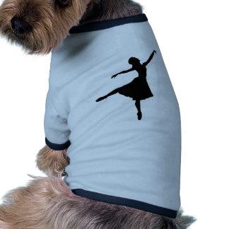 Silueta de la bailarina ropa perro
