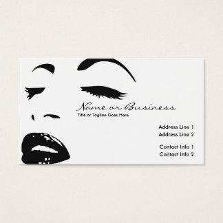 silueta de la belleza tarjeta de visita
