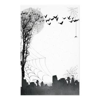 Silueta de la escena del cementerio de Halloween Papelería