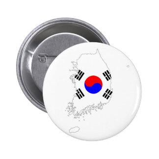 silueta de la forma del mapa de la bandera de país chapa redonda de 5 cm