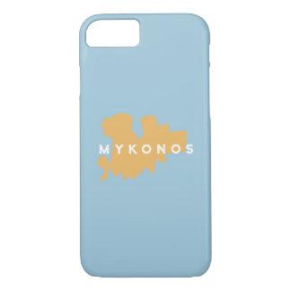Silueta de la isla de Mykonos Grecia Funda iPhone 7