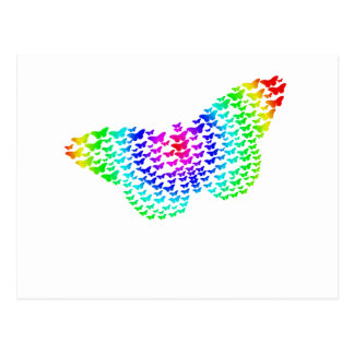 Silueta de la mariposa del arco iris postal