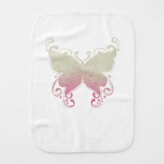 Silueta de la mariposa - paño del Burp del bebé