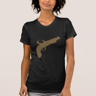 Silueta de la pistola del pedernal camiseta