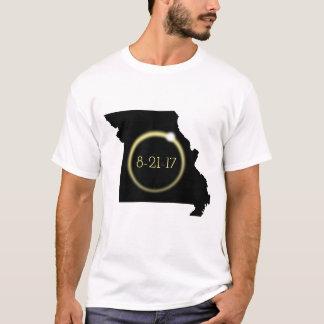 Silueta de Missouri de la corona del eclipse solar Camiseta