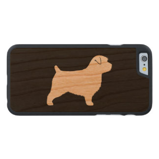 Silueta de Norfolk Terrier Funda Fina De Cerezo Para iPhone 6 De Carved