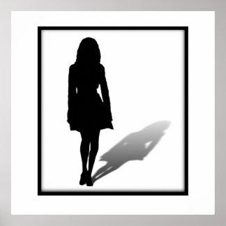 Silueta de una mujer póster