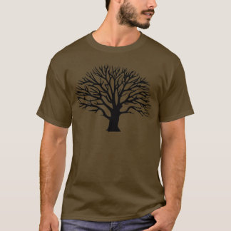 Silueta del árbol camiseta